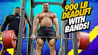 900 LB DEADLIFT WITH BANDS!
