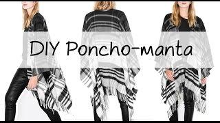 DIY | Un poncho-manta en 2 pasos ♡