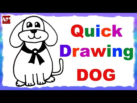 How to draw dog | easy draw dog | easy drawing for kids | learn drawing | kids drawing dog
