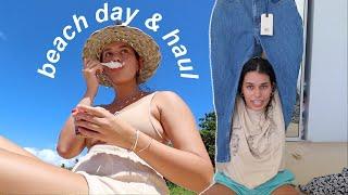 fun beach day with me, acai bowls,  & mini clothing haul! 🌞🌊