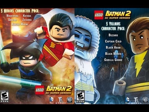 Lego Batman 2 DC super heroes character pack DLC - YouTube