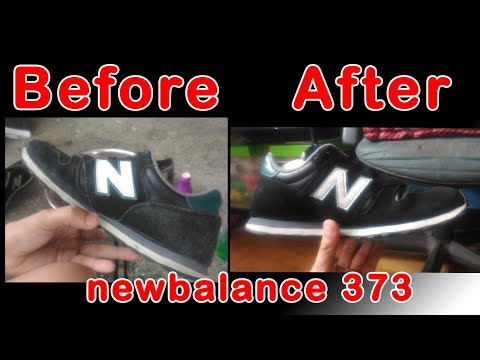 How to repaint & clean newbalance 373 (suede)