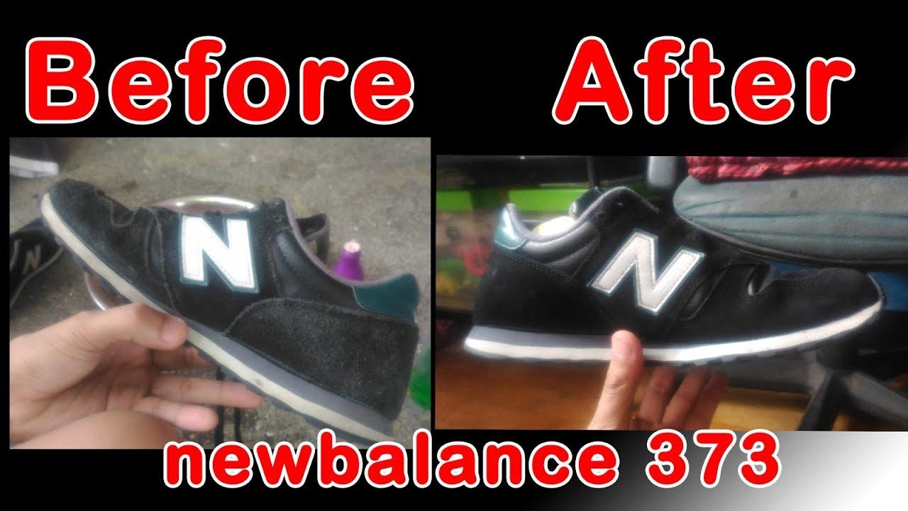 repaint \u0026 clean newbalance 373 (suede
