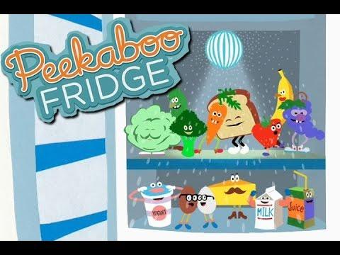 Peekaboo Fridge Gameplay Baby Learn Fruits, Vegetables, Food Fun Children Fridge  Game