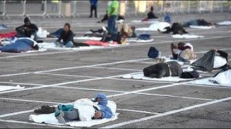 Obdachlose in Las Vegas müssen auf Parkplatz schlafen