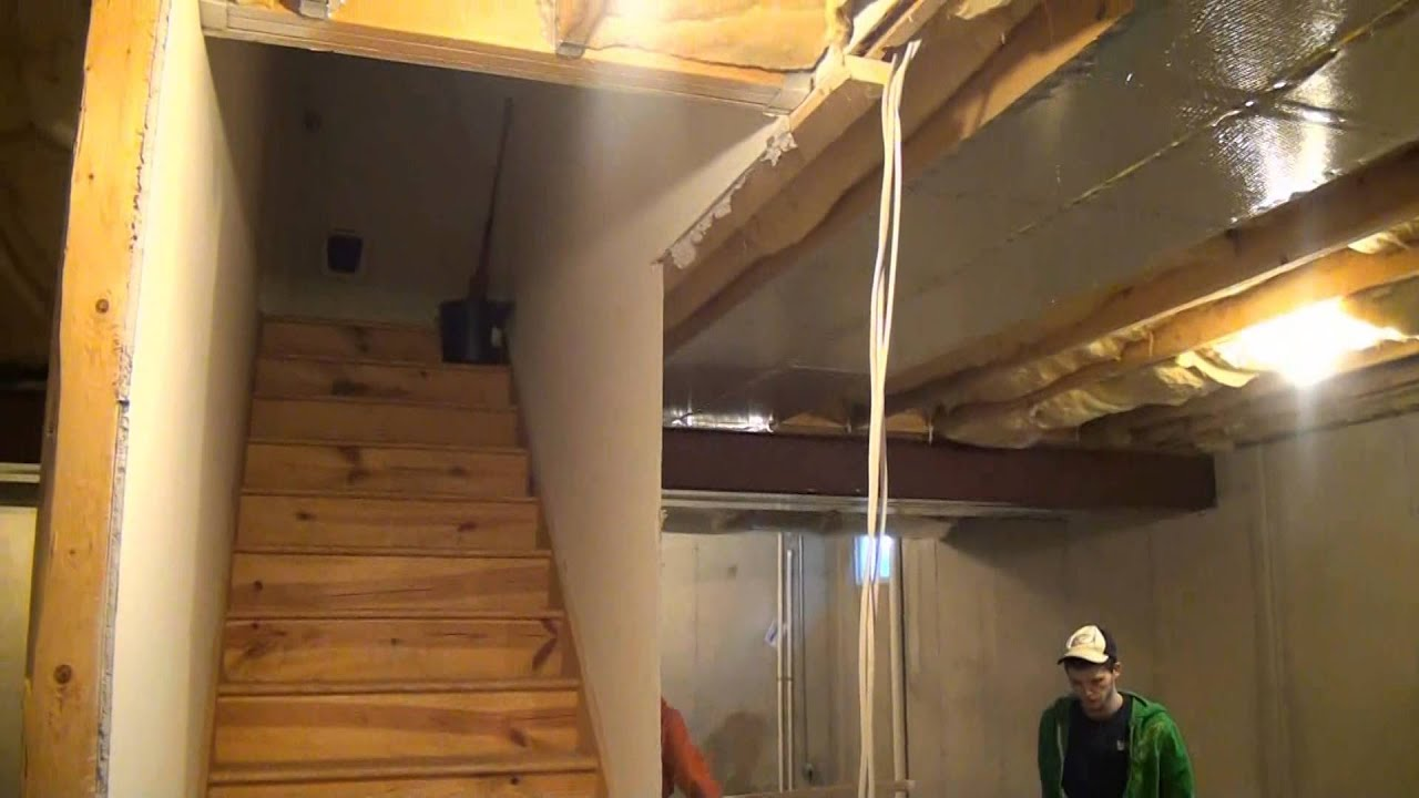DIY Basement Stairway Ideas  YouTube