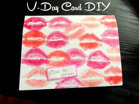 DIY Kisses For You Valentines Day Card YouTube – Homemade Valentines Day Cards for Him