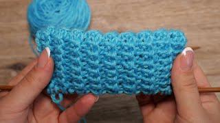 Резинка спицами для изделий с отворотом | «Rib Lapel» knitting pattern