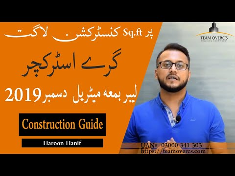 HOUSE CONSTRUCTION COST 2019 LATEST GREY STRUCTURE COST