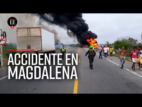 Asciende a 12 el número de fallecidos por explosión de camión cisterna en Tasajera