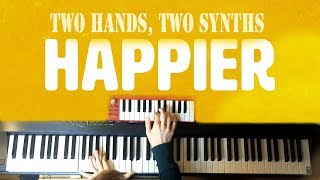 Marshmello ft. Bastille - Happier - (Piano & Synth Loop)