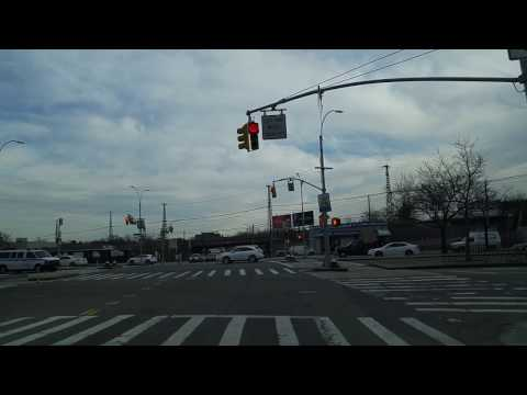 Driving from Jackson Heights to Middle Village in Queens,New York