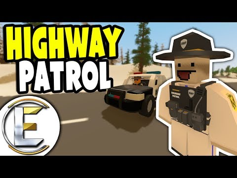 Unturned Highway Patrol RP | Big Deal Big Trouble And Fake Sheriff (Police Roleplay)