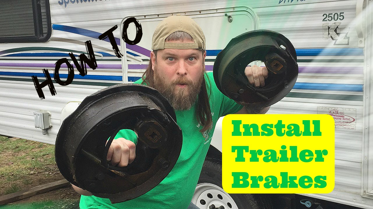 How We Installed New Electric Trailer Brakes Youtube Wiring A Brake System