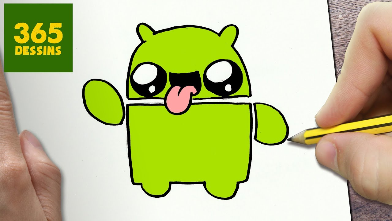 Comment Dessiner Logo Android Kawaii étape Par étape Dessins Kawaii Facile