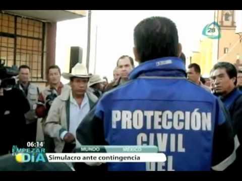 Realizan simulacro de evacuación en la zona del Popocatépetl