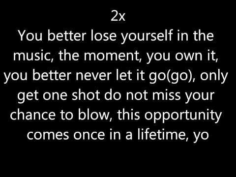 Download Youtube: Eminem - Lose Yourself lyrics Clean
