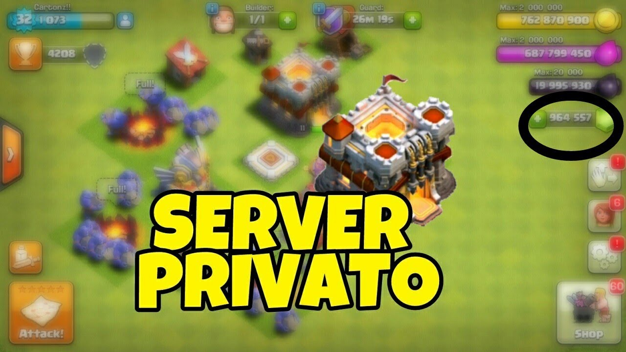 server privato clash of clans