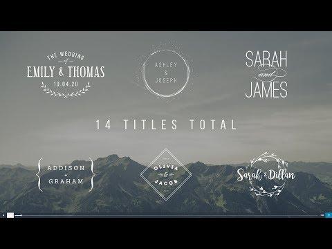 titulos para bodas Adobe Premier, After effects