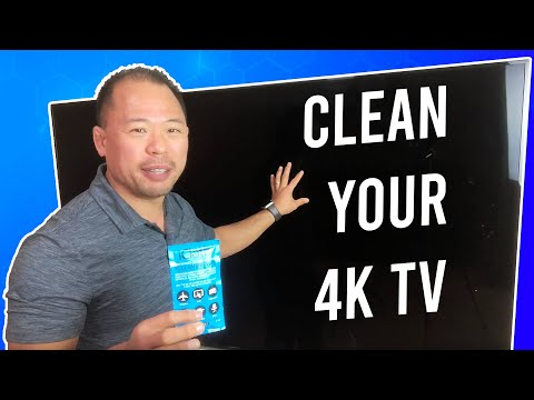 How to Clean a 4K TV Screen the Right Way - iCloth vs. Microfiber | Ed Tchoi