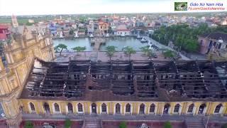 Giáo Xứ Đền Thánh Trung Lao sau vụ cháy : Từ góc nhìn flycam
