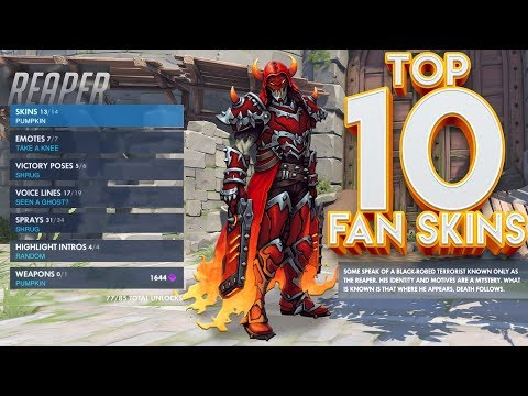 TOP 10 OVERWATCH FAN SKINS! #2