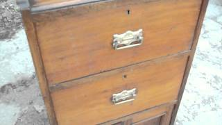 Vintage Mahogany Chest Of Drawers Dresser Cupboard  Shelves Whatever!!!