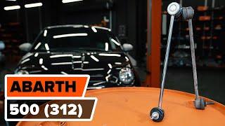 Montering Glødelampe Nummerskiltlys ABARTH 500 / 595: videoopplæring