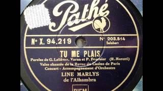 """Line Marlys """" tu me plais """" 1932"""
