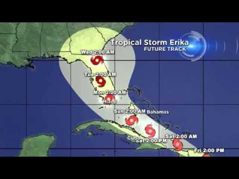 CBS4 TROPICS - Tropical Storm Erika