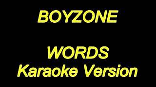 Boyzone Words Karaoke Lyrics NEW