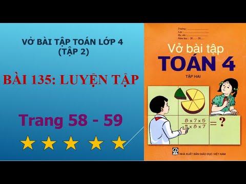 Bài 135 – Luyện tập, trang 58 – 59 vở bài tập toán lớp 4 tập 2 – học toán online 247