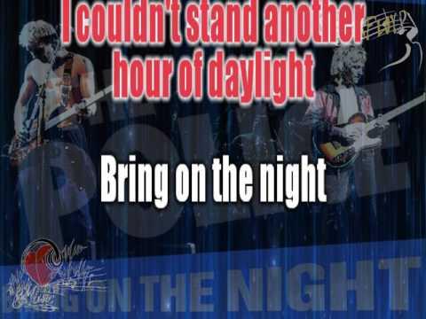 Police - Bring on the night (karaoke)