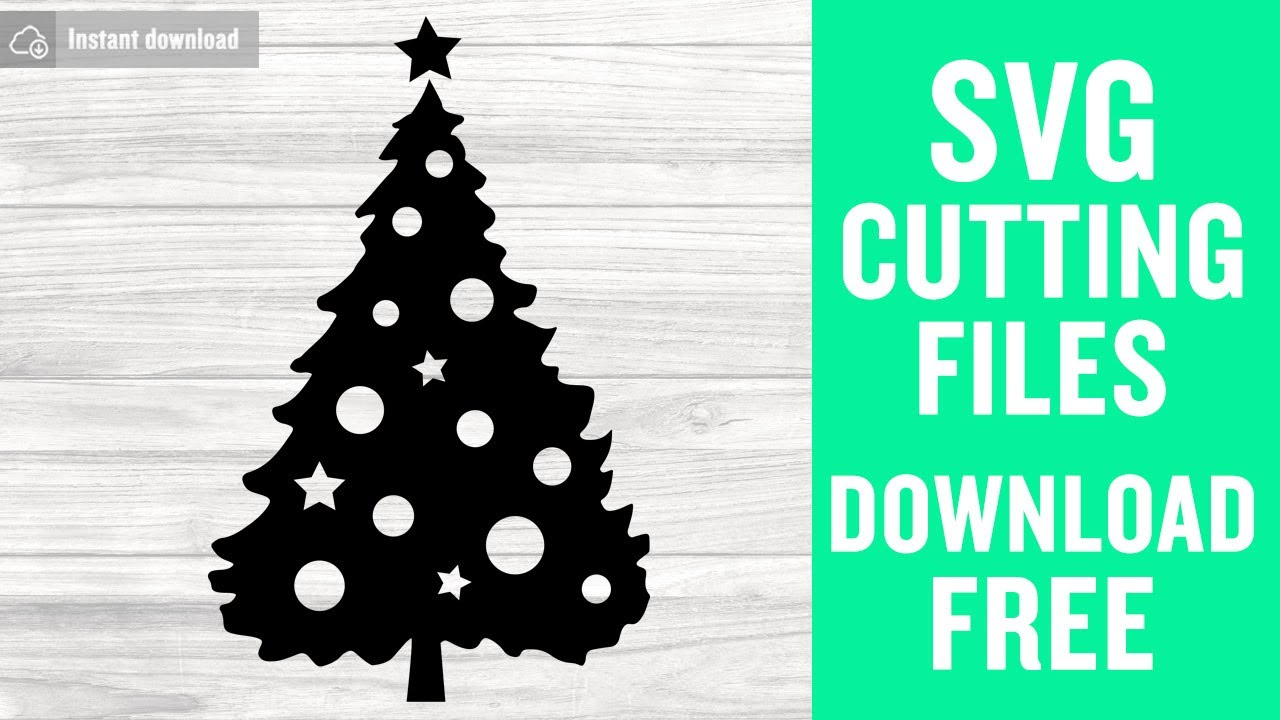 Christmas Tree Silhouette SVG Free Cutting Files for Cricut Brother  Scanncut Instant Download
