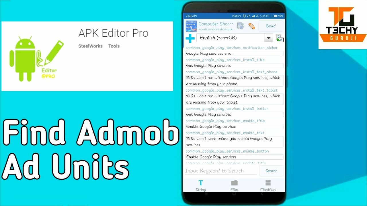 How To Find Ad Codes in Apk Editor Pro | Earn Money With AdMob | Android  Apps
