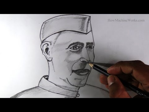 How to draw Jawaharlal Nehru - Childrens day special