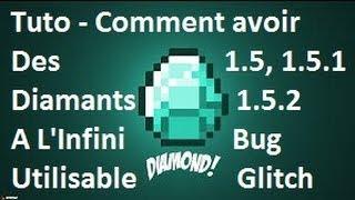 comment avoir des diamants a l infini dans minecraft