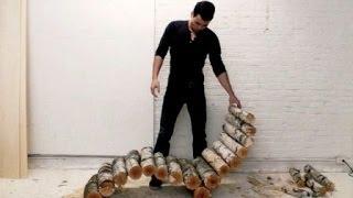 Как сделать лежак для дачи своими руками(Как сделать лежак. Хочу продемонстрировать: как из обычных древесных веток можно сделать замечательный..., 2014-06-16T13:08:00.000Z)