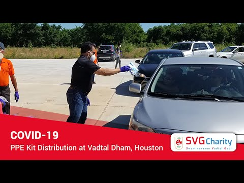 COVID-19 |  PPE Kit Distribution @ Vadtal Dham Houston | SVG Charity