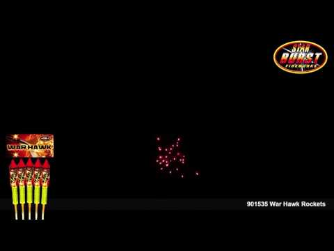 Star Burst Fireworks - 901535 War Hawk Rockets