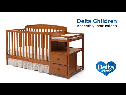 Delta Children Royal 4-in-1 Crib 'N' Changer Assembly Video