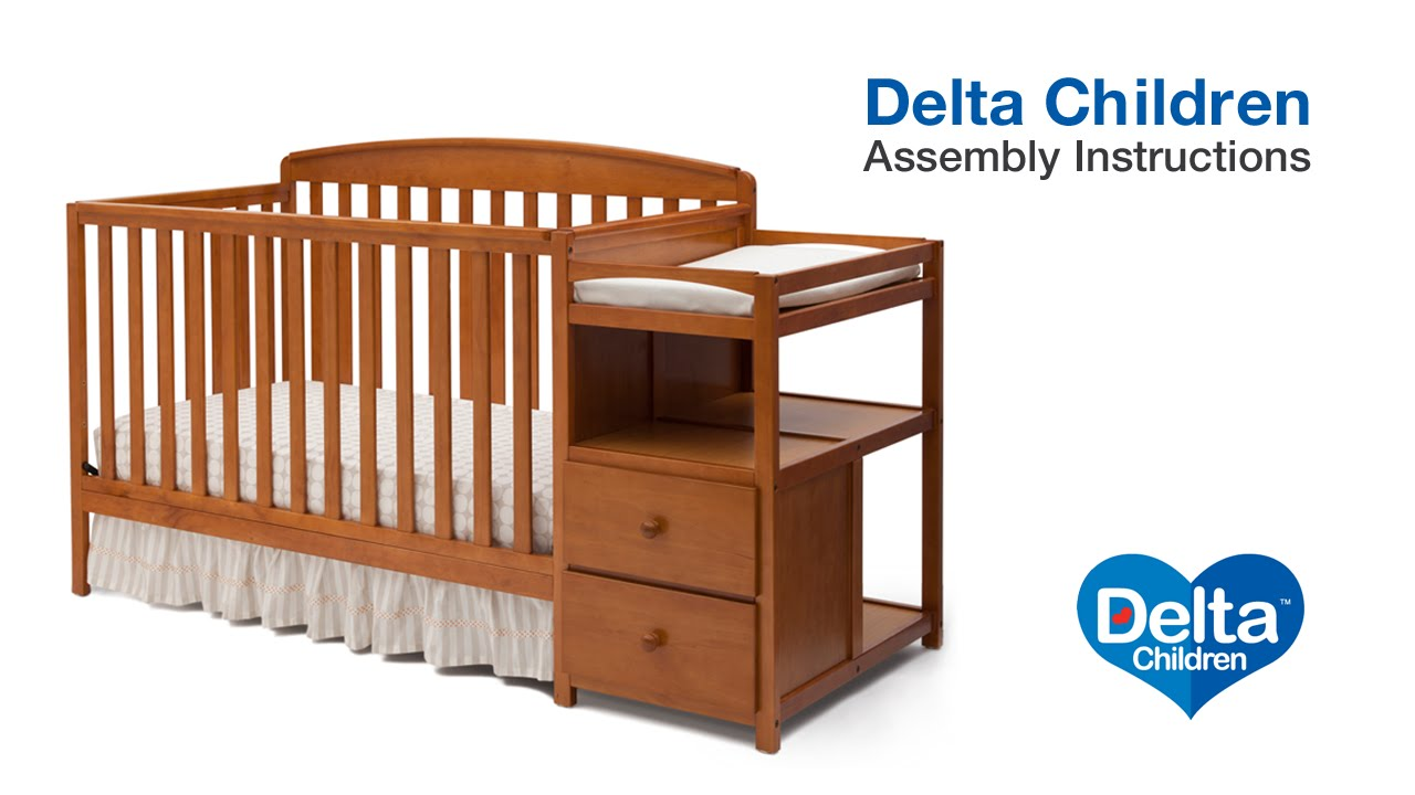 Delta Children Royal 4in1 Crib N Changer Assembly Video YouTube