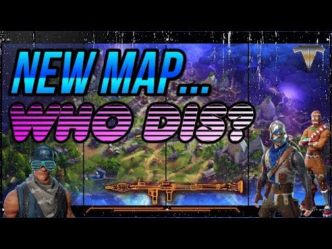 FORTNITE ⚡NEW MAP.WHO DIS?! Battle Royale & End Game Save The