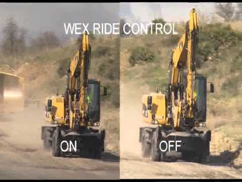 Ride Control Demo On A Cat Wheel Excavator Youtube