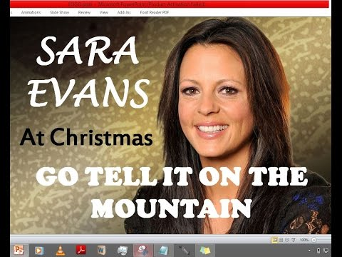 Sara Evans - Go Tell It On The Mountain (Lyrics)