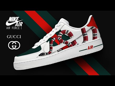 Nike Air Force 1 X Gucci Custom Youtube