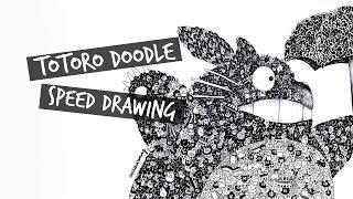 Totoro Doodle Speed Drawing   Vivian Wong