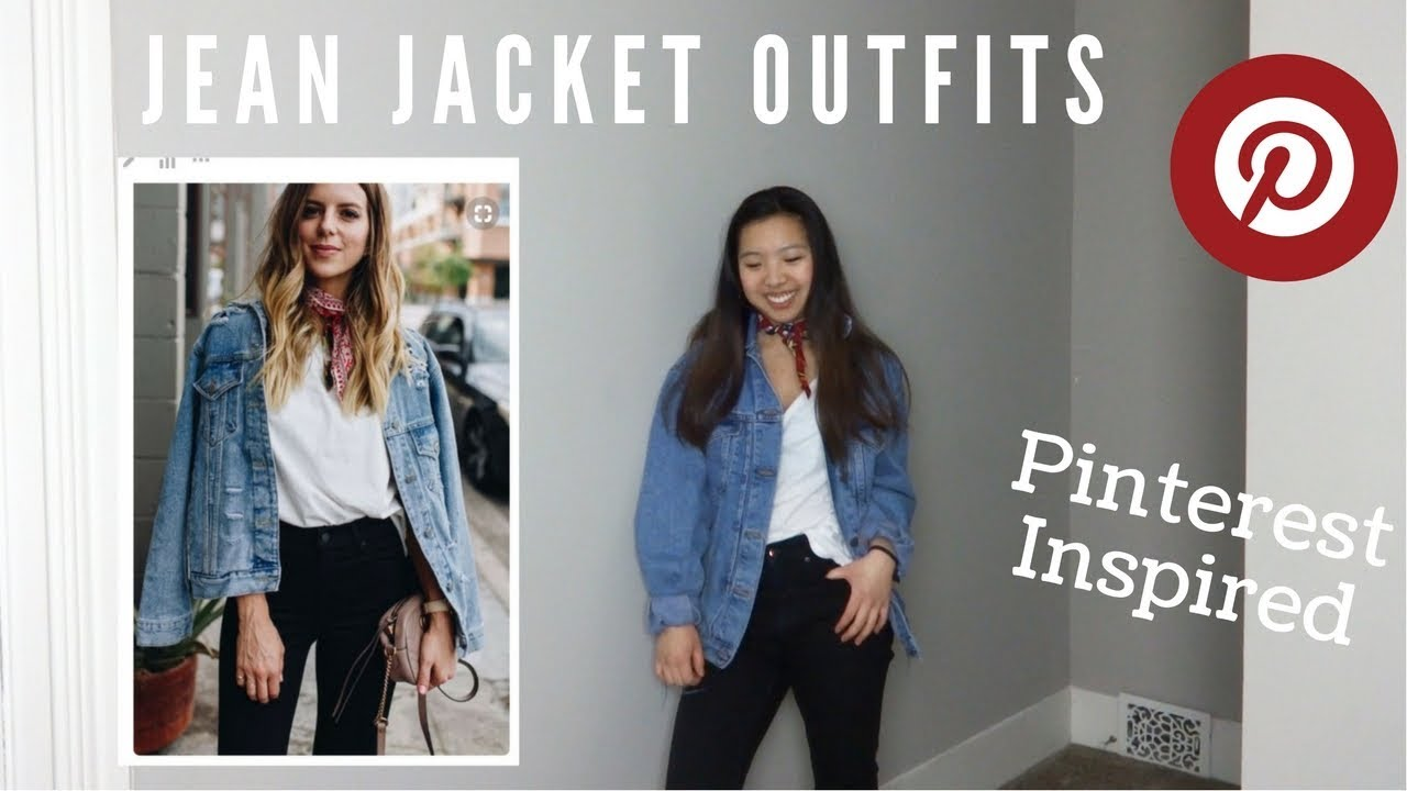 How To Wear An Oversized Jean Jacket Pinterest Inspired Youtube