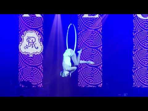 Aerial Hoop Lyra Show in Dubai - Beautiful elegant performance act