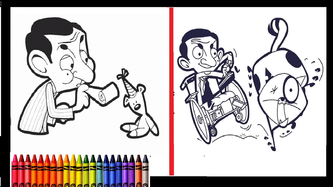 Uncategorized Mr Bean Colouring Pages mr bean best compilation coloring book pages for kids learn to color
